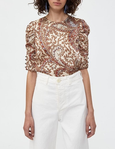 Maryvonne Paisely Blouse