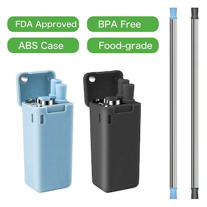 Begleri Collapsible Reusable Straws 2 Pack