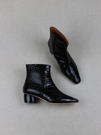 Matea Negro Croc Boots