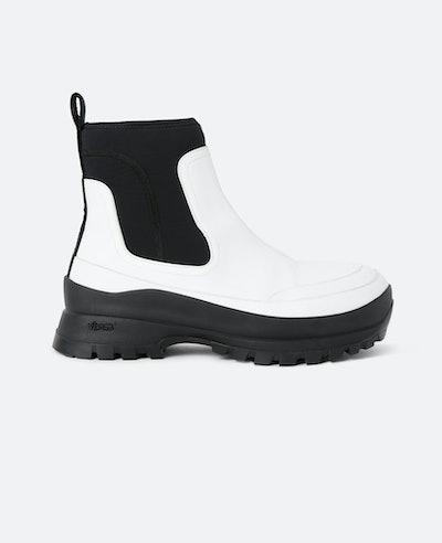 White Utility Boots