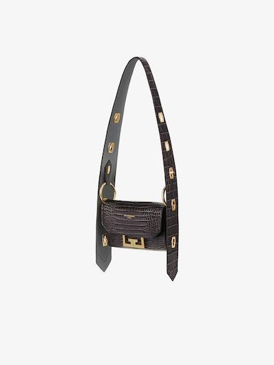 Nano Eden Bag in Crocodile-Effect Leather