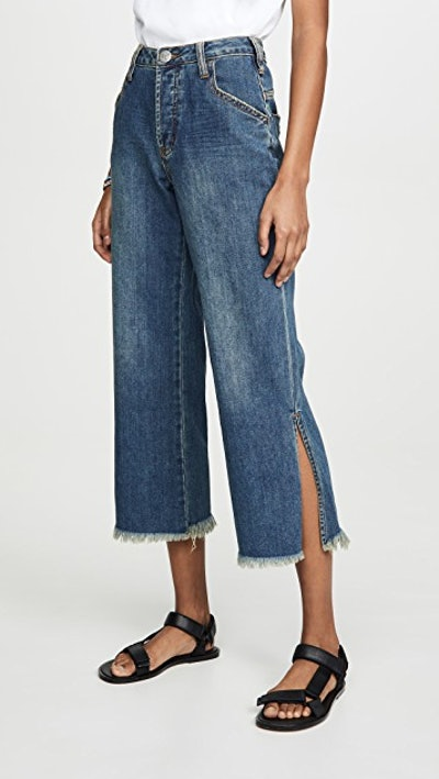 Dirty Indigo Libertines High Waist Cropped Wide Leg Jeans