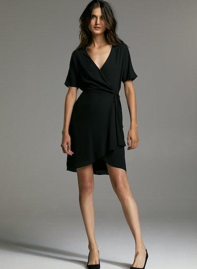 Babaton Wallace Dress Short-Sleeve Wrap Dress