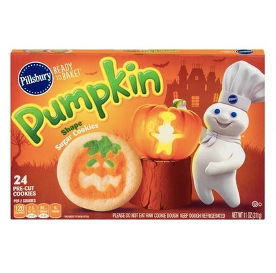 Pillsbury Pumpkin Shape Sugar Cookies - 11oz