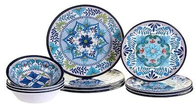 Certified International Talavera Melamine 12-Piece Dinnerware Set
