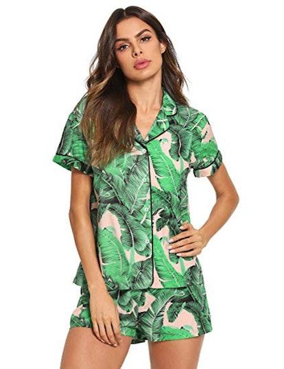 Floerns Print Pajama Set
