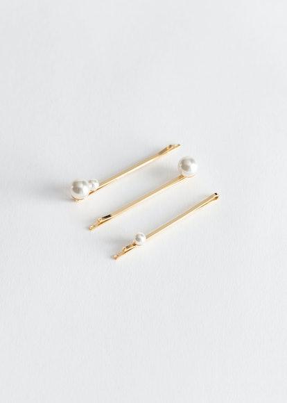 Three Pack Pearl Hairpins