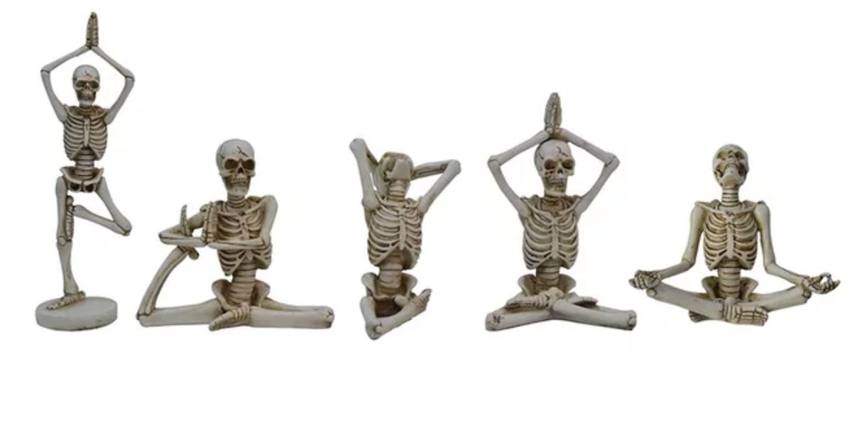 Michaels' Yoga Skeletons Are Your Ghoulish Gurus This Halloween