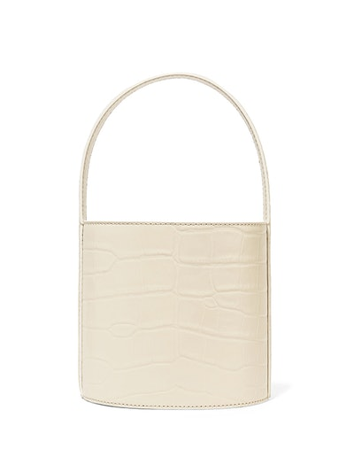 Bissett Croc-Effect Leather Bucket Bag