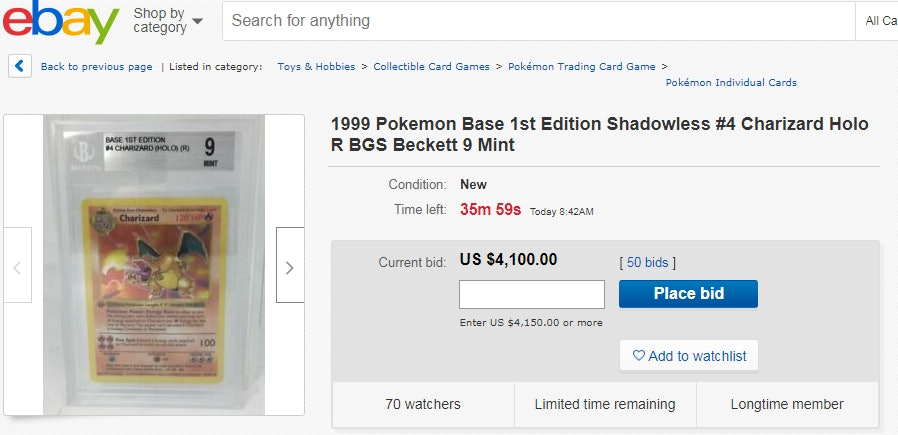 Pokémon card set in mint condition sells for over $100,000