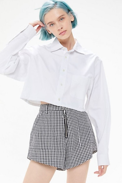 Urban Renewal Recycled Cropped Button-Down Shirt