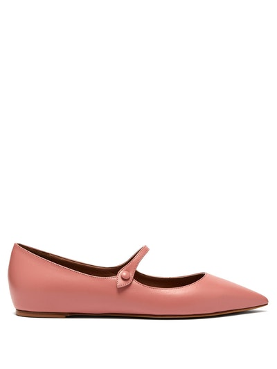 Hermione Leather Mary-Jane Flats