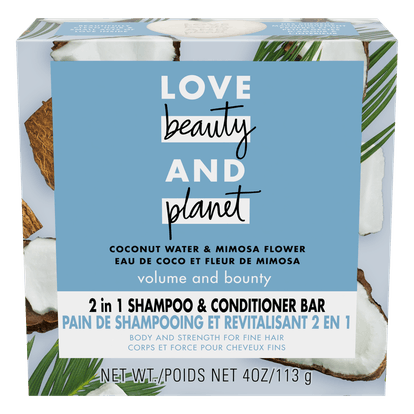 Coconut Water Shampoo + Conditioner Bar