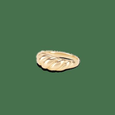 Thin Croissant Dôme Pinky Ring