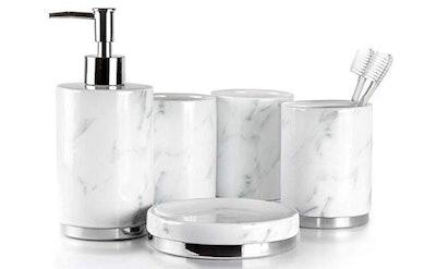 Willow&Ivory Bathroom Accessories Set (5-Piece)