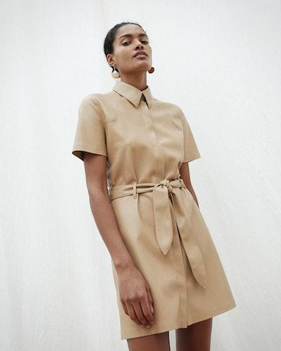 Vegan Leather Western Dress