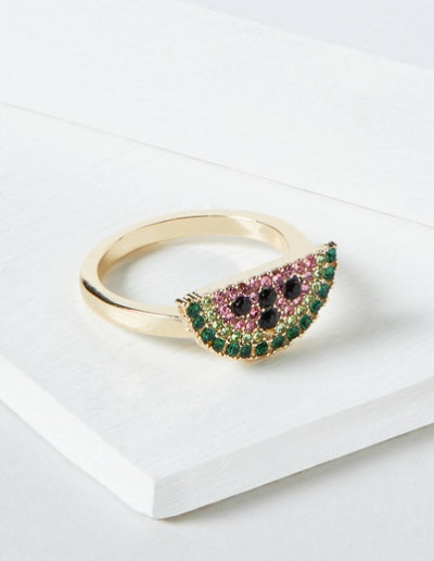 Pave Watermelon Statement Ring