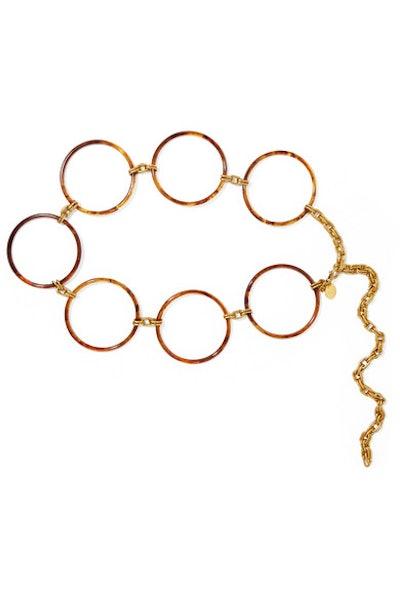 Cult Gaia Tortoiseshell Acrylic And Gold-tone Belt