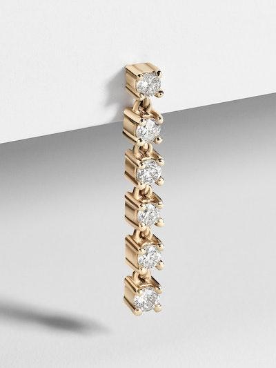 Eva Diamond Single Stud Earring