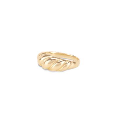 Thin Croissant Dôme Ring