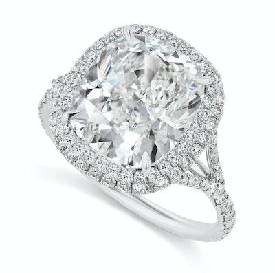 Cushion-Shaped Diamond Ring