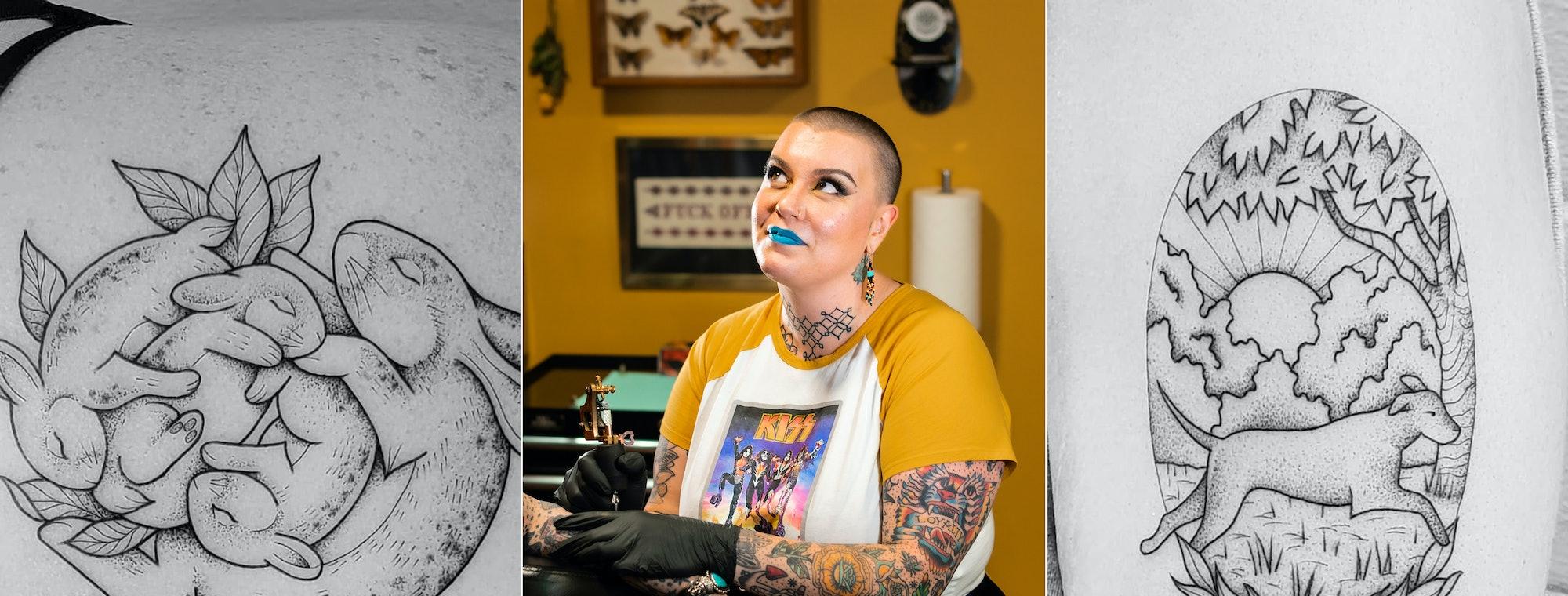 Ann Arbor Based Tattoo Artist Carrie Metz Caporussos Black