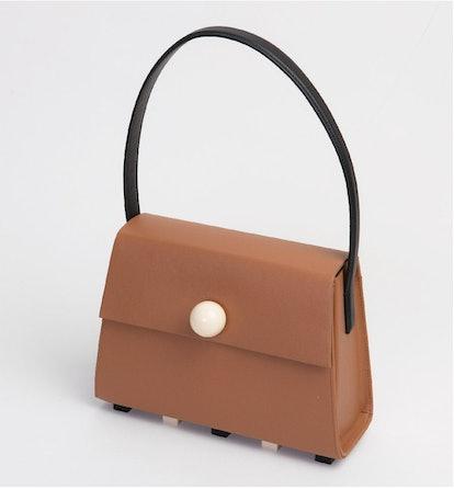 Long Trapezoid Satchel Bag