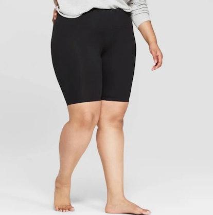 Women's Plus Size Bike Lounge Shorts