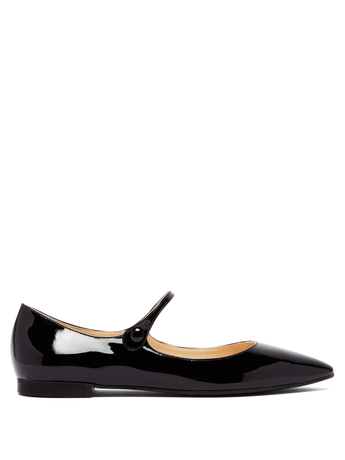 Patent-Leather Mary-Jane Flats
