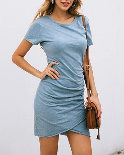 BTFBM Ruched Bodycon Dress