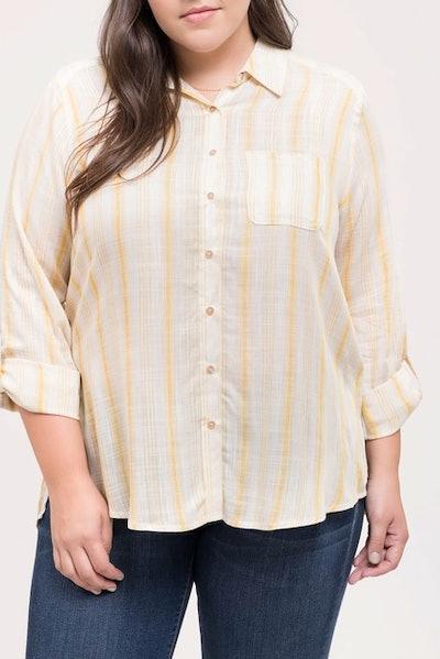 Pocket Button Up Stripe Shirt