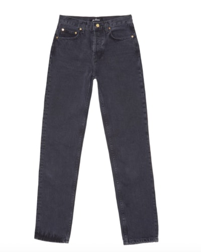 Classic High-Waisted Vintage Black Denim