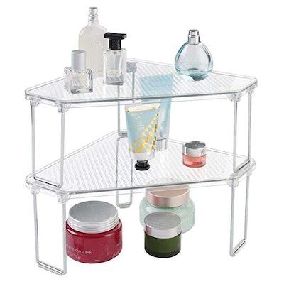 mDesign Corner Organizer Shelf