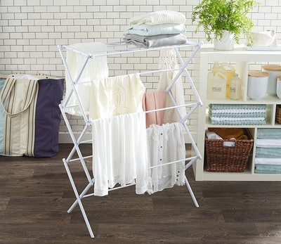AmazonBasics Foldable Clothes Drying Rack