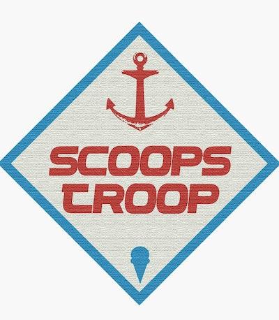 Scoops Troop Patch Sticker