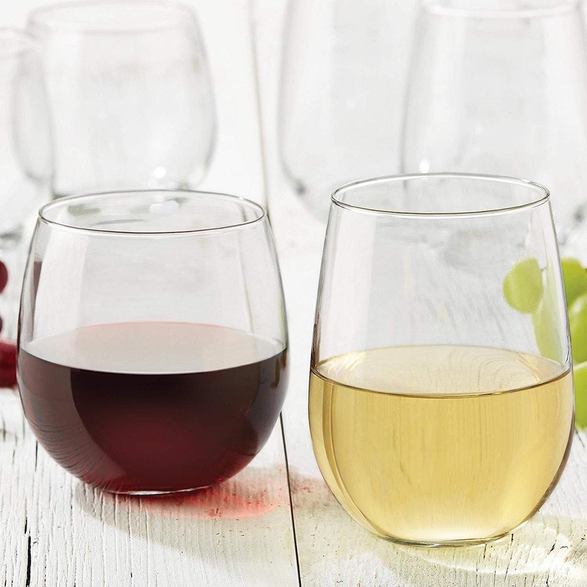 Libbey Stemless 12-Piece Wine Glass Party Set
