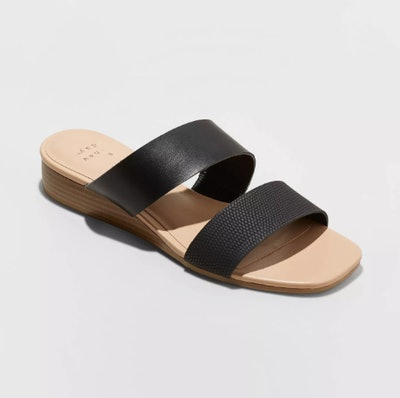 A New Day Women's Ana Two Band Espadrille Slide Sandals
