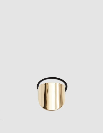 Gold Oval Hair Tie