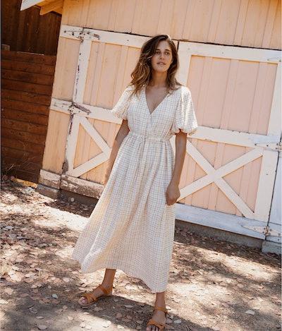 The Dahlia Dress  In Summertime Plaid