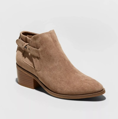 A New Day Women's Nikki Faux Leather Buckle Bootie
