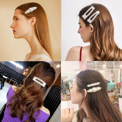 J-MEE Pearl Hair Clips (4 Pieces)