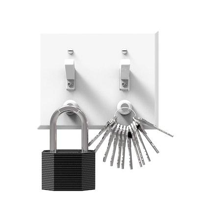 KeySmart Magnetic Key Rack (6 Magnets)