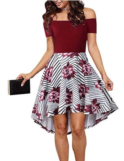 CUQY Women's Off-The-Shoulder Dress