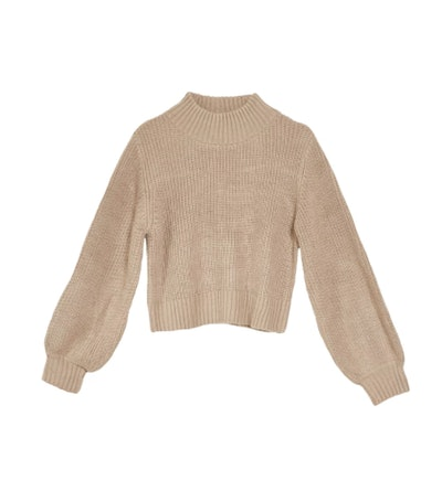 Margo Bubble Knit Sweater - Caramel
