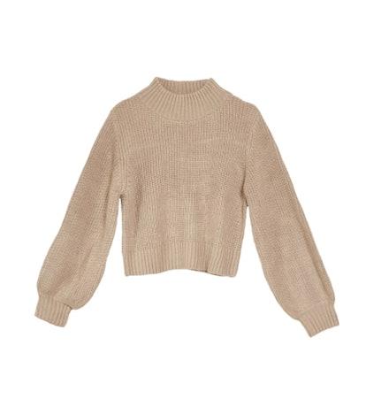 Margo Bubble Knit Sweater - Caramel