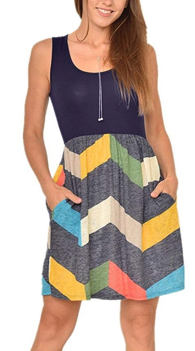 Poulax Women's Casual Sleeveless Dress