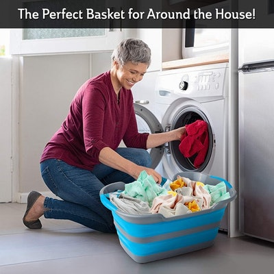 Stylin' Home Collapsible Laundry & Storage Basket (2 Pack)
