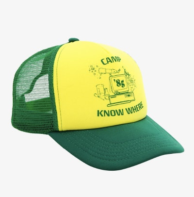 Stranger Things Dustin Camp Know Where Cosplay Trucker Hat