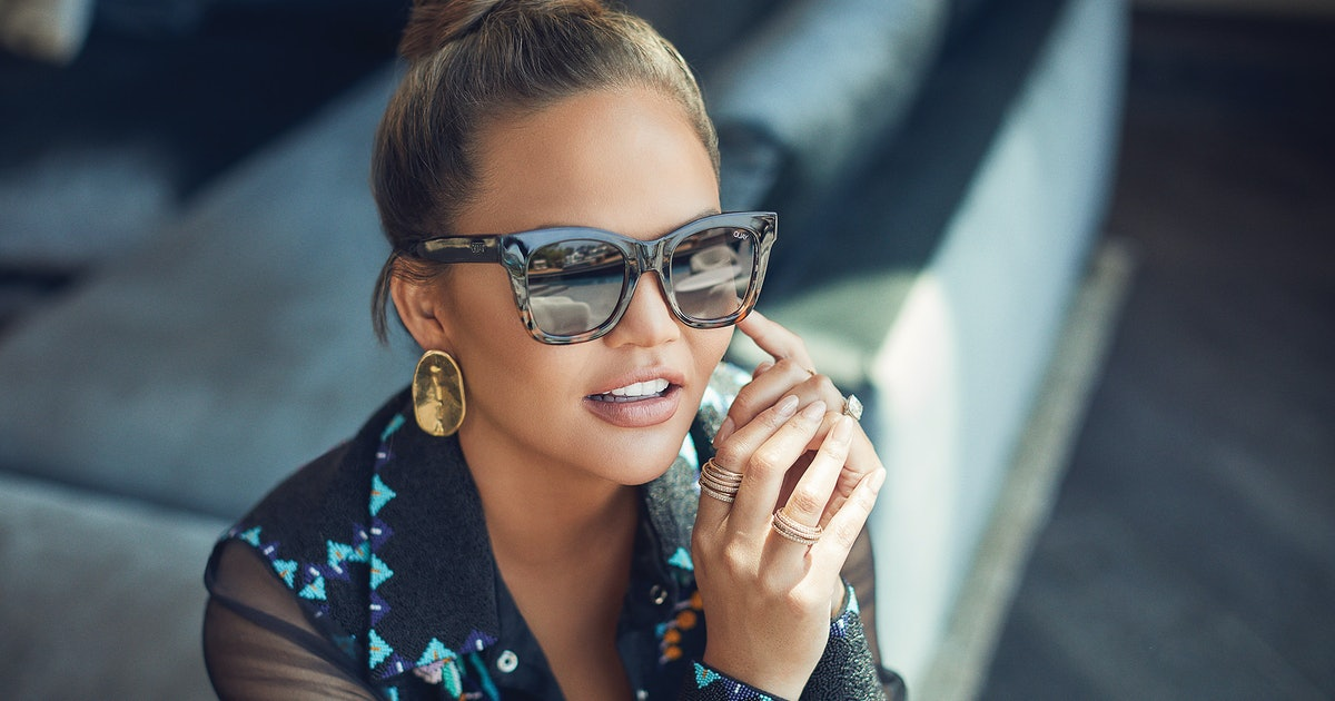 The Chrissy Teigen x Quay Sunglasses Collection Lets You Shop Chrissy's Style On A Budget