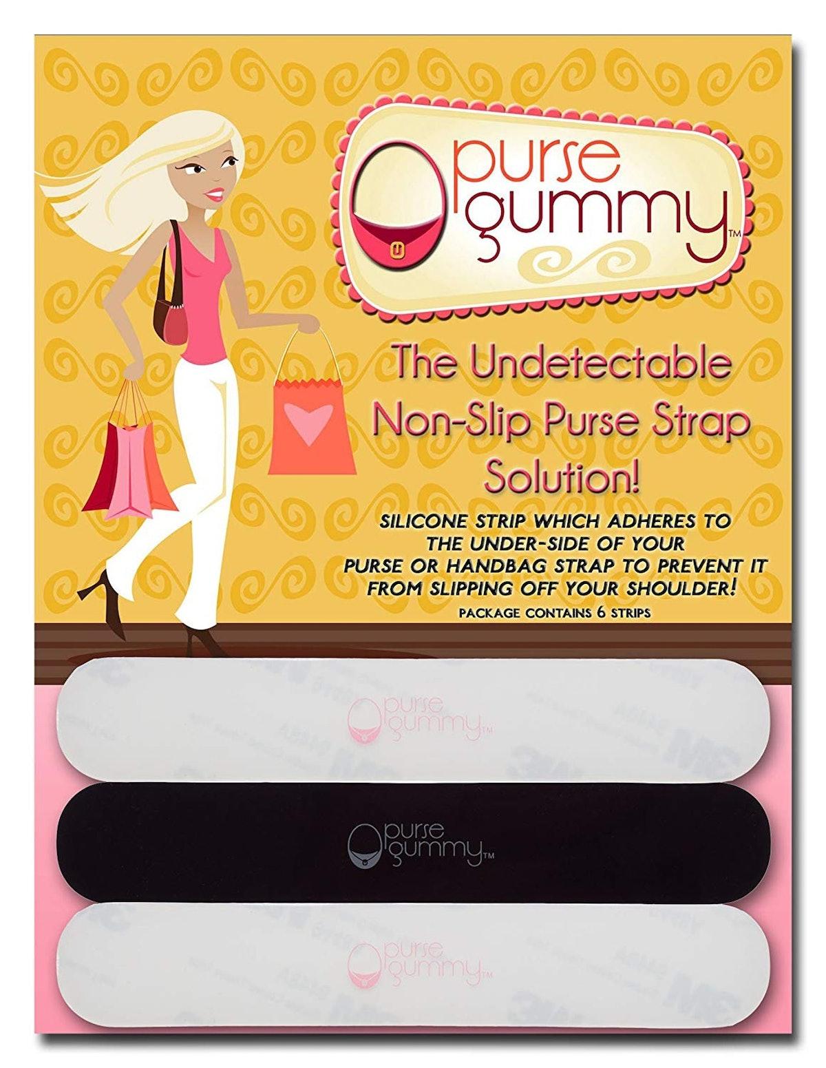 Purse Gummy Non-Slip Purse Strap Grips (6-Pack)